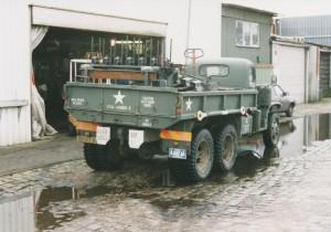 NS 162 Gardner motor gaat in 1998 naar Keep them Rolling bij het Haarlemmermeerstation