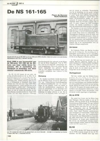 NVBS publicatie Op de Rails 1997 serie 161-165
