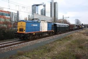 NS162 transport Stalen-D en Gs doorkomst te Sloterdijk