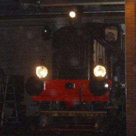 NS 162 de lampen branden