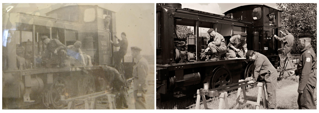Military Railway WD 7003? in 1942 en de WD 70033 in 2012